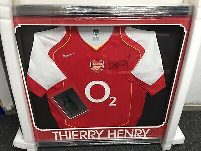 b24135609 Thierry Henry Signed Arsenal Football Shirt - Framed Ready To Hang -  Excellent