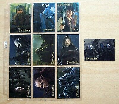 Lord Of The Rings rare Fellowship Of The Ring  foil card set