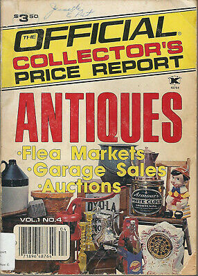 1983 The Official Collector's Price Report Antiques Vol.1 No.4 Gd-VG