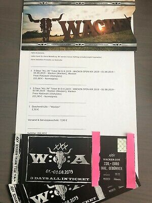 "2 x 3-Days ""All In"" Tickets Wacken Open Air 2019 (W:O:A)"