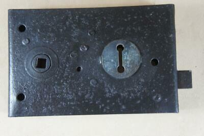 Vintage wrought iron rim lock 140mm by 90mm - no key or keep ( lot 11 )