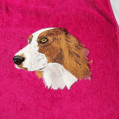 Irish Setter Dog Embroidered Bath Towel, New Home Gift, Embroidered Gift