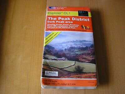 Ordnance Survey Explorer Laminated Map Ol1 Peak District