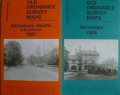 Old Ordnance Survey 2 Maps Altrincham & Altrincham North Cheshire 1897  & 1908