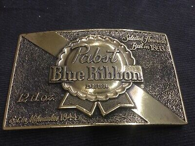 Vintage pabst blue ribbon PBR 1979 Chicago limited edition #107 Belt buckle beer