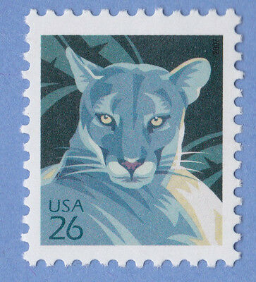 PANTHER FLORIDA PANTHER 2007 Cats POSTAGE 26 Cent STAMP Unused USPS 4137 MNH