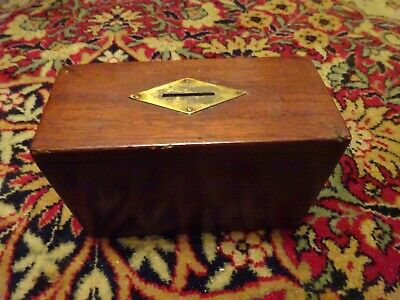vintage or antique wooded collection box