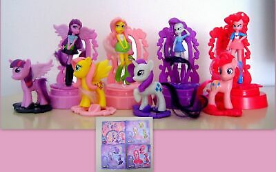 KINDER  - MAXI 2017 - SET COMPLETO MY  LITTLE PONY EQUESTRA GIRLS + 4 bpz