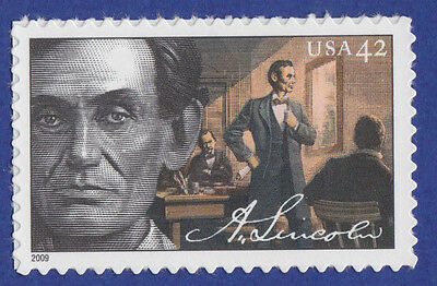 ABRAHAM LINCOLN Lawyer STAMP United States SPRINGFIELD IL POSTAGE 2009 Unused 1