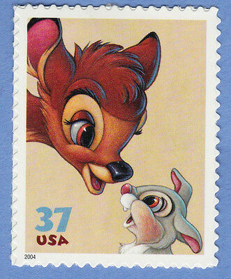 BAMBI and THUMPER Art of DISNEY Friendship STAMP Unused 2004 US Postage DEER MNH