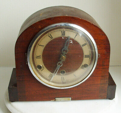 Vintage Anvil Westminster Chime Mantle Clock Restoration Project No Key -Chiming