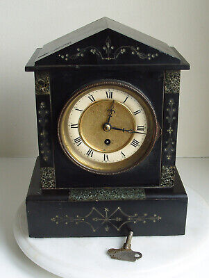 Antique 19th Century Slate / Marble Mantle Clock