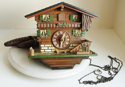 Vintage German Wood  cuckoo Clock Albert Schwab Karlsruhe for restoration