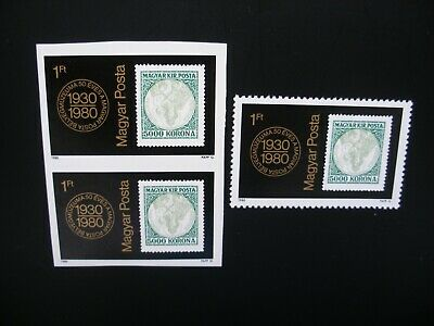 Hungary-1980 Short Year of 19 Stamps, 3 Souvenir Sheets MNH CTO, 2 Imperforated