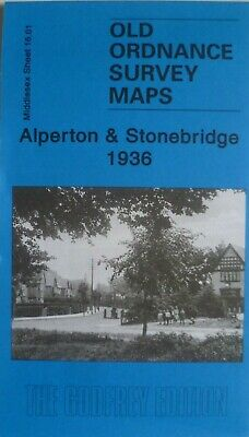 Old Ordnance Survey  Maps Alperton & Stonebridge Middlesex 1936 Godfrey Edition