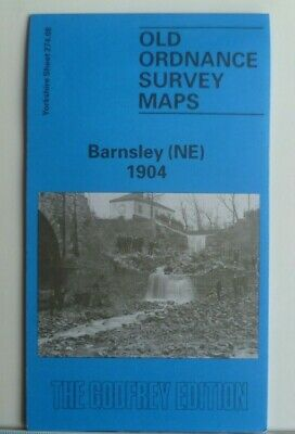 Old Ordnance Survey Map Barnsley NE Yorkshire 1904 Godfrey Edition New