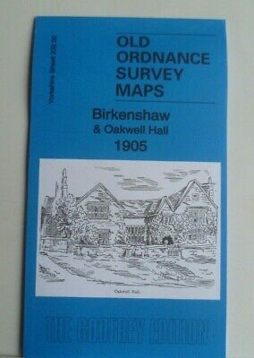 Old Ordnance Survey Map Birkenshaw & Oakwell Hall Yorkshire1905 Godfrey Edition