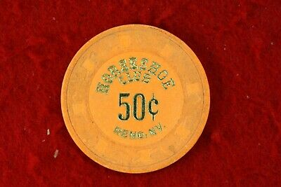 Horseshoe Club 50c Casino Chip in Reno, NV