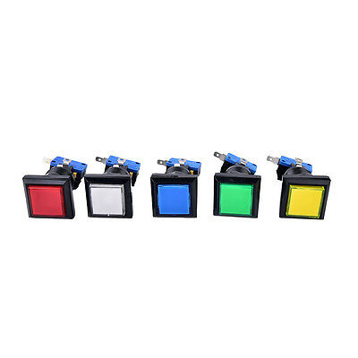 square lit illuminated arcade video game push button switch LED light lamp WD