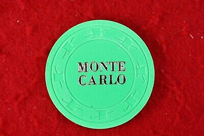 Monte Carlo 25c casino chip from Laughlin, NV
