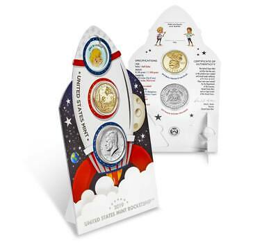 """2019 U.S. MINT ROCKET SHIP """"KIDS COIN SET"""" *** Special Gift Coins Included ***"""