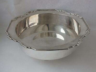 Stylish Solid Sterling Silver Bowl 1946/ Dia 20.3 cm/ 516 g