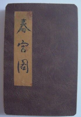 Antique Japanese Shunga Pillow Book-Explicit Erotica-Accordian Mount (E)