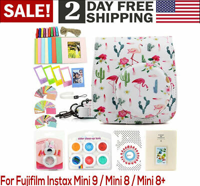 For Fujifilm Instax Mini 9 8+ 8 Accessories Package With Case 9 PACK Bundle Set