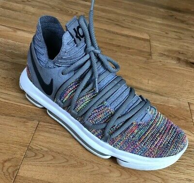detailed look 9f069 fa573 NIKE ZOOM KEVIN Durant KD X 10 Men's 9.5 Grey Multicolor 897815-900 Shoes