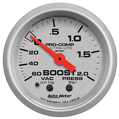 AutoMeter 4303-M Ultra-Lite Mechanical Boost/Vacuum Gauge