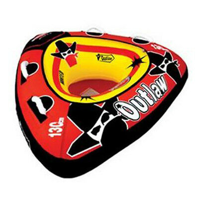 Sports Stuff Outlaw Towable Ski Tube Inflatable Biscuit Boat Ride