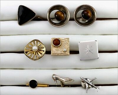 Mixed Lot of Vintage Sterling Silver One Pair & 6 Unpaired Cufflinks, 43 grams