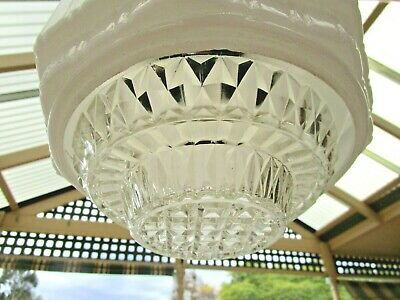 Art Deco - Empire Chrysler Beehive Skyscraper Light Shade WITH CLEAR DIFFUSER
