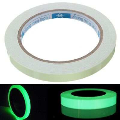 Nastro Adesivo Luminoso 1cmx 5MT Glow in the Dark Sticker Decorazioni Casa