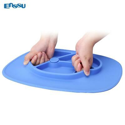 Silicone Mat Baby Kids Suction Table Food Tray Placemat Plate Bowl Dish DA