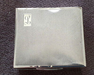 1913 - Antique Birmingham Solid Silver Cigarette Case