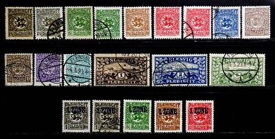Schleswig, Germany: 1920 Classic Era Stamp Collection