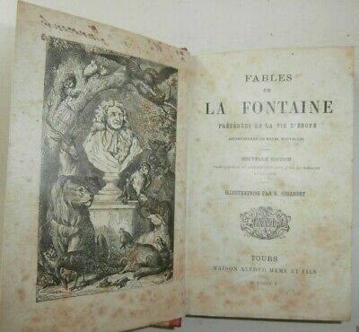 Antico libro Fables de la Fontaine Illustrato