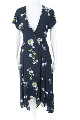 c29d169e5c29 Free People Womens Lost In You Midi Floral Dress Blue Size Medium 10971395