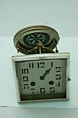 French Deco Antique Clock Movement And Dial,Spares.