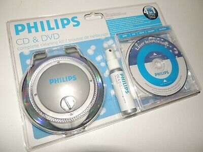 CD DVD 4 In 1 Complete Cleaning Kit By Philips-NEW/Sealed