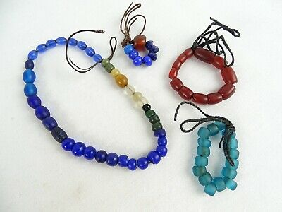 RARE Antique African Trade beads & Oriental Glass Beads Ancient Carnelian
