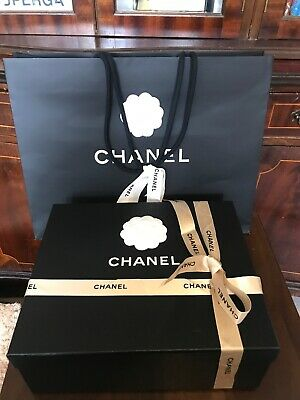 Chanel Empty Shoes Box-bag And Paper