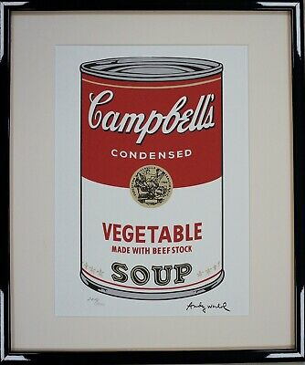"""Andy Warhol Campbell's soup I """"Vegetable' Signed Lithograph 2719/3000."""