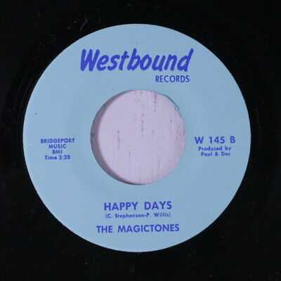 MAGICTONES: Happy Days / Trying Real Hard 45 (funky Crossover Northern Soul da
