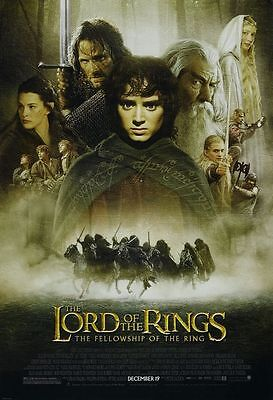 Lord of the Rings Fellowship of the Ring - original movie poster 27x40