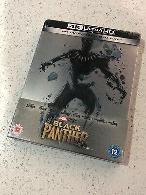 Marvel's Black Panther Limited Steelbook Collectors Edition 4K & Blu-Ray Sealed