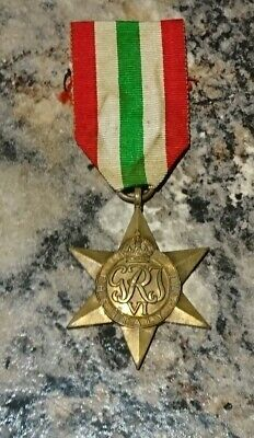 WW2 British Italy Star Medal - Issued