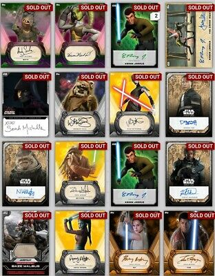 Topps Star Wars Card Trader Selling ALL cards Awards Inserts 2 for $1 [Digital]