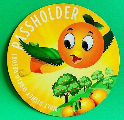 "Disney World Florida Orange Bird Annual Passholder Car Magnet 4"" x 4"""